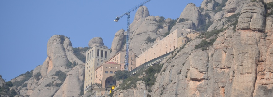 Monastery at Monserrat in Barcelona, Spain